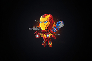 Iron Man Dark Minimal Art 4k Wallpaper