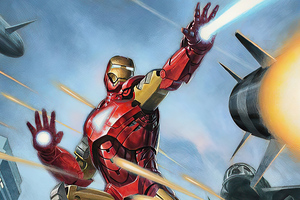 Iron Man Destroying Missile Wallpaper