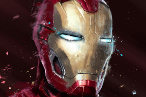 Iron Man Digital Spray Painting 4k Wallpaper