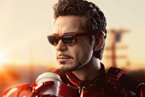 Iron Man Drinking Coffee