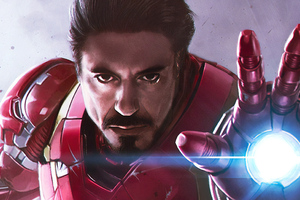 Iron Man Endgame Art Wallpaper