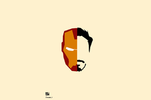 Iron Man Face Minimalism