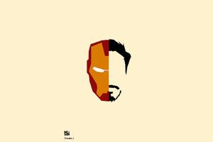 Iron Man Face Minimalism