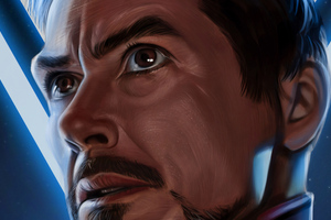 Iron Man Face Portrait 4k