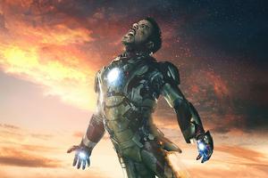 Iron Man Falling Wallpaper