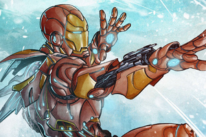 Iron Man Fan Made Sketch Wallpaper