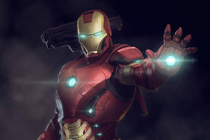 Iron Man Fire Blaster 4k