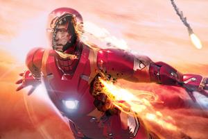 Iron Man Flying 4k