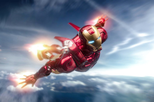 Iron Man Flying 5k