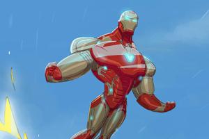 Iron Man Flying Hero Wallpaper