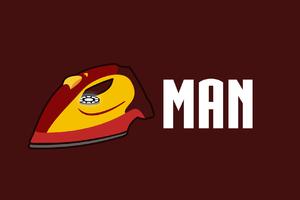 Iron Man Funny Minimalism