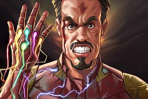 Iron Man Gauntlet Snap 4k
