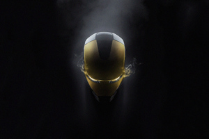 Iron Man Glowing Mask 4k