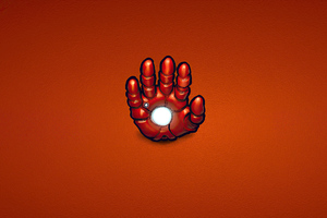 Iron Man Hand Minimal 4k Wallpaper