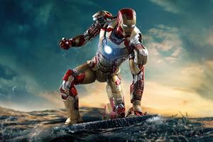 Iron Man Helmet Closed 8k Wallpaper