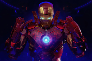 Iron Man Holographic 4k 2020 Wallpaper