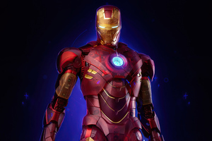 Iron Man Holographic Wallpaper