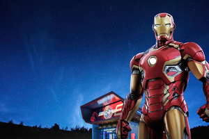 Iron Man Hong Kong Disneyland Wallpaper