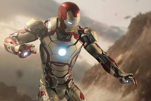 Iron Man Hovering Wallpaper