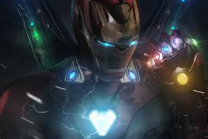 Iron Man Infinity Gauntlet New Art Wallpaper