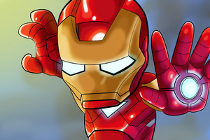 Iron Man Kid Cosmic Art