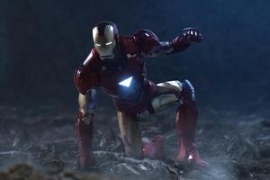 Iron Man Landing Position Wallpaper