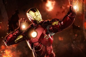 Iron Man Laser Firing Up