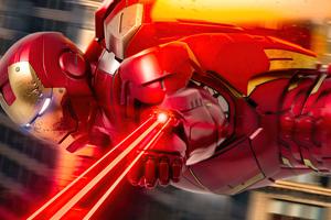 Iron Man Laser Flight Wallpaper
