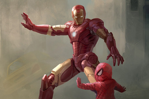 Iron Man Little Spidey