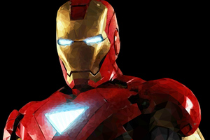 Iron Man Low Poly 4k