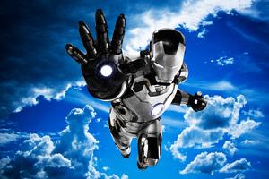 Iron Man Mark 42 Black And White