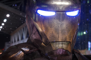 Iron Man Mask Closeup 4k