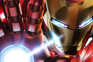 Iron Man Mask Closeup Artwork Wallpaper