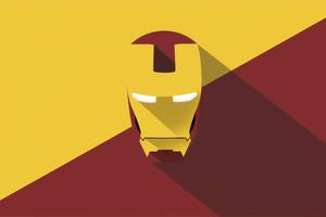 Iron Man Mask Minimal Art