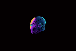 Iron Man Mask Minimalism 4k Wallpaper