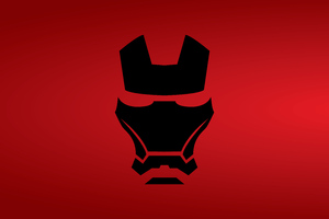 Iron Man Mask Minimalist 8k Wallpaper