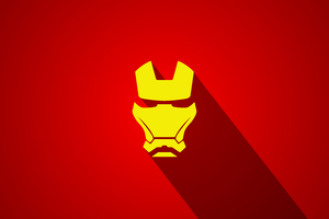 Iron Man Minimal Art 5k Wallpaper