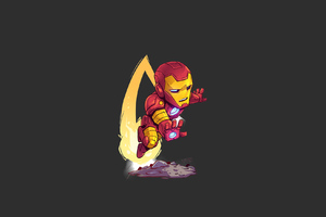 Iron Man Minimal Art Wallpaper