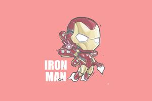 Iron Man Minimal Chibbi 4k Wallpaper