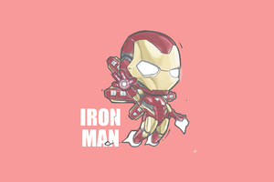 Iron Man Minimal Chibbi 4k
