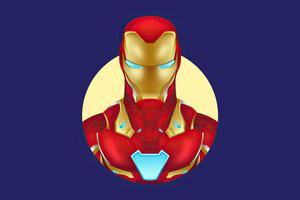 Iron Man Minimalism 4k 2020 Wallpaper