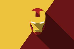 Iron Man Minimalism 4k