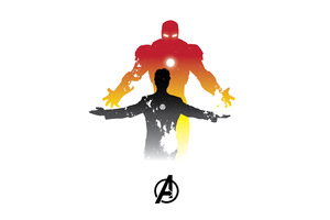 Iron Man Minimalism 5k Wallpaper