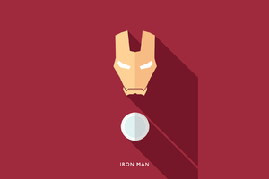 Iron Man Minimalists 4k Wallpaper