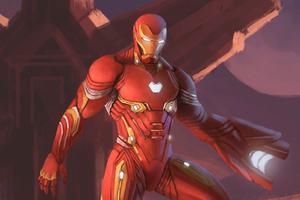 Iron Man Nano Suit Fan Art 5k