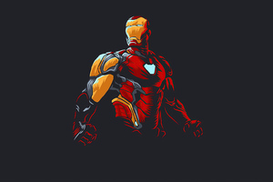 Iron Man New Minimalism 2020 Wallpaper