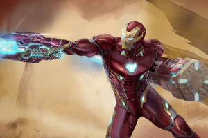 Iron Man Newsuit Art Wallpaper