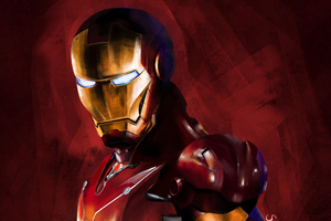 Iron Man Paint Art