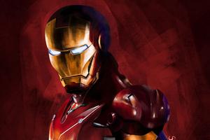 Iron Man Paint Art