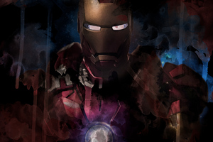 Iron Man Paint Artwork Wallpaper